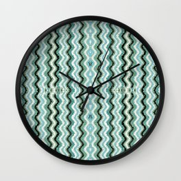 Abstract Lines and Weave - Blue Gray Wall Clock