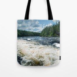 Swim Upstream Tote Bag