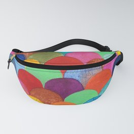 Bright and Colorful Watercolor Scales Pattern Fanny Pack
