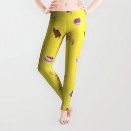 sugar sweet desserts print Leggings