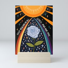 Deep healing on all levels Mini Art Print