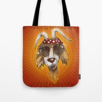 rockabilly Tote Bags featuring Rockabilly by Chip David