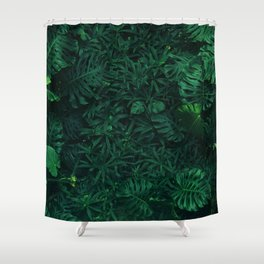 Fresh Tropical Greenery (Color) Shower Curtain