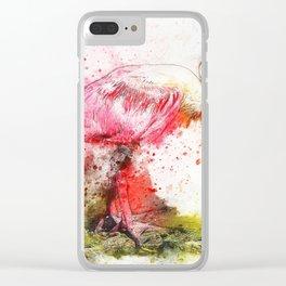 Bird Spatula Pink Clear iPhone Case