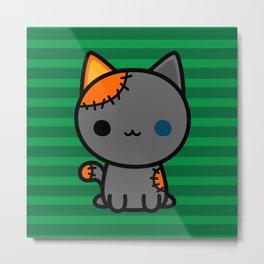 Cute spooky kitty Metal Print
