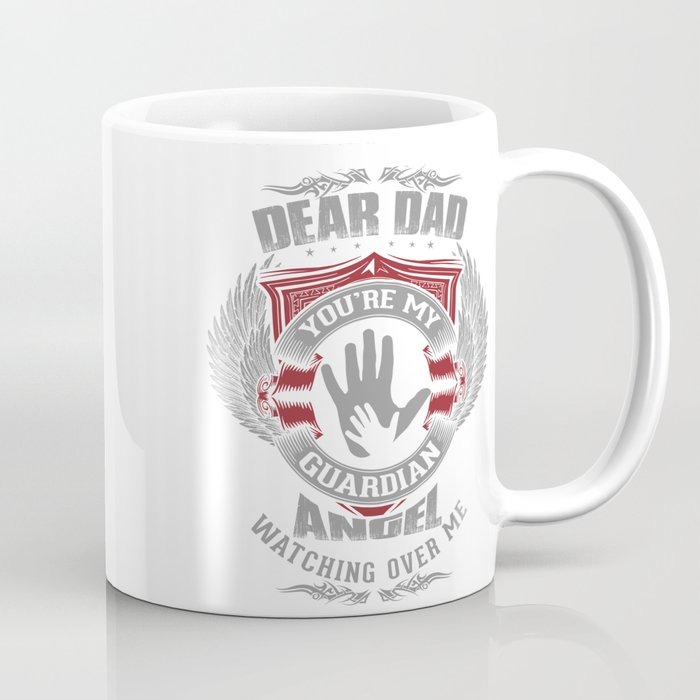 Lovesout - Dad, You're My Guardian Angel Coffee Mug