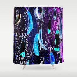 Midnight Lures Shower Curtain