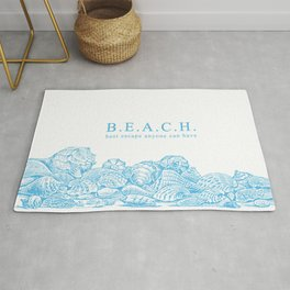 BEACH- Best escape anyone can have - Mix & Match with Simplicity of Life Rug
