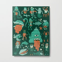 Wow! Creatures!  Metal Print