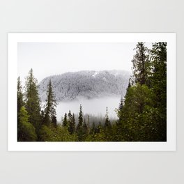 Way up there. Art Print