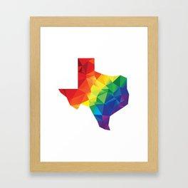 Geometric Pride Texas Framed Art Print