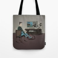gaming Tote Bags featuring Pixel Gaming by Steven Kaule