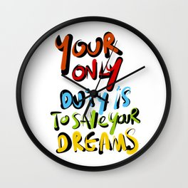 Modigliani's words Wall Clock