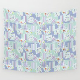scraps in pastel colors Wall Tapestry