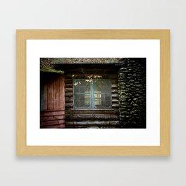 Abandoned Log Cabin Framed Art Print