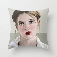 lolita Throw Pillows featuring Lolita by Acromatiq
