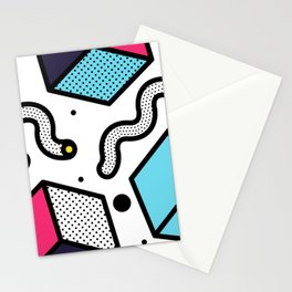 Memphis Pop-art Pattern II Stationery Cards