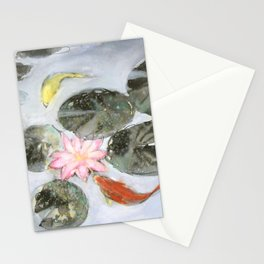 Sumie No.12 Triple Koi Stationery Cards
