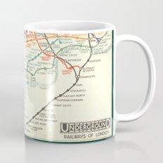 Vintage London Underground Map Mug