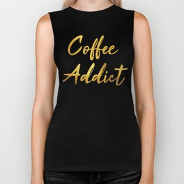 Coffee Addict Biker Tank