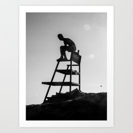 Beach Life - Lifeguard Art Print