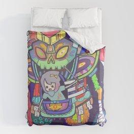 Kuri and the Kaiju Duvet Cover