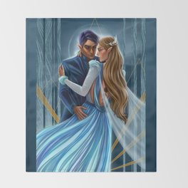 Starlight Feyre and Rhys Throw Blanket