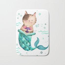 Purrmaid Illustration Bath Mat