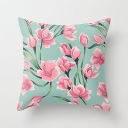 floral pattern 2 Throw Pillow
