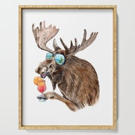 Moose on Vacation Serving Tray