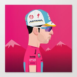 Vincenzo Nibali | Side Profile Canvas Print