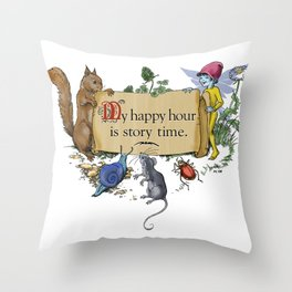 My Happy Hour... Throw Pillow