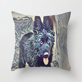 The Belgian Shepherd Throw Pillow