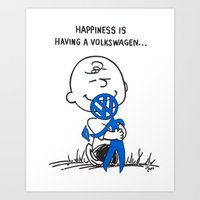 volkswagon Art Prints featuring Happiness is ......... by BulldawgDUDE