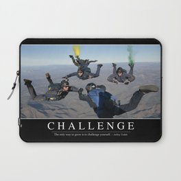 Challenge: Inspirational Quote and Motivational Poster Laptop Sleeve