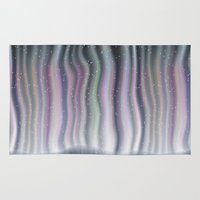 northern lights Area & Throw Rugs featuring Northern Lights by Bonnie Phantasm