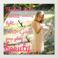 scripture Canvas Prints featuring Incorruptible Beauty (scripture) by Pure Heart Ministries