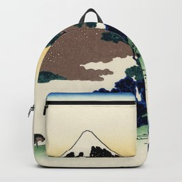 "Hokusai (1760-1849)  ""Inume Pass"" Backpack"