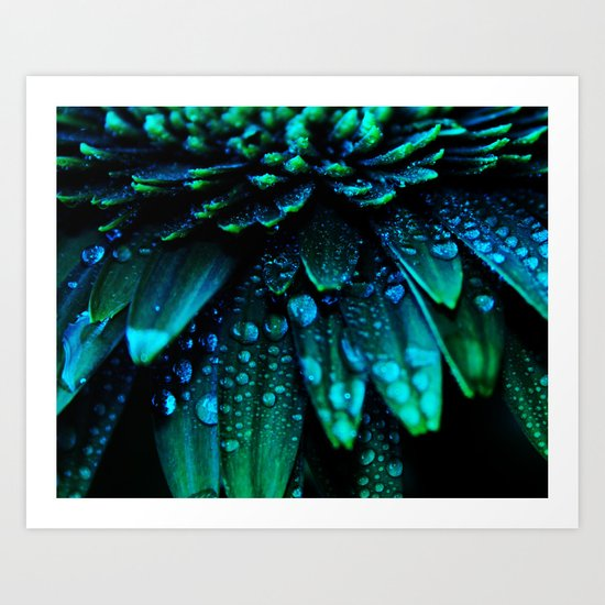 flower - midnight blue Art Print