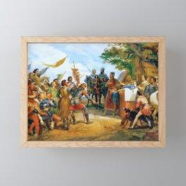 Horace Vernet - Bataille De Bouvines Gagnee Par Philippe Auguste - Digital Remastered Edition Framed Mini Art Print