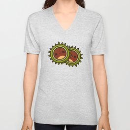 Cute Conkers Unisex V-Neck