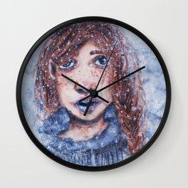 Snowy Day Wall Clock