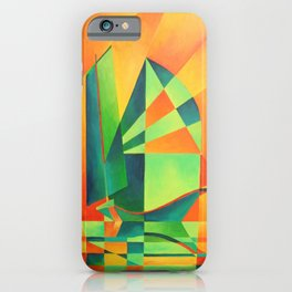 Chinese Junk Sails at Sunrise iPhone Case