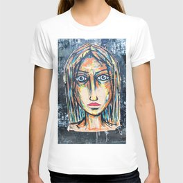art street portrait T-shirt