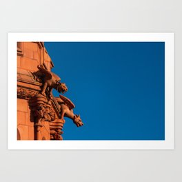 Watchful Dragons Art Print