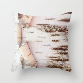 Birch Wood Throw Pillow