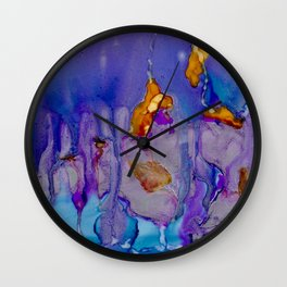 Gem Tones with Silver Wall Clock