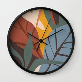 Abstract Art Jungle Wall Clock