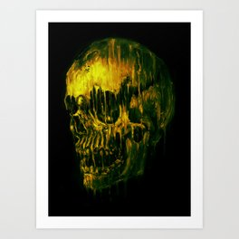 Melting Skull Art Print