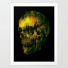 Melting Skull Art Print